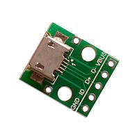 Перехідник адаптер microUSB - DIP 5pin
