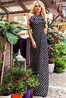 Длинное шифоновое струящееся  платье с шикарными рюшами (разные цвета)