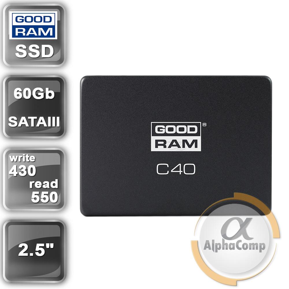 "Накопитель SSD 2.5"" 60GB GOODRAM C40 (SDPR-C40-060) SATA III"