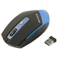 Супер мышь игровая ESTONE E-2350 USB Синяя радио игровая dpi 1600 точность оптическая лазерная компьютерная