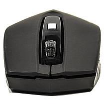Радио мышь ESTONE E-2350 USB Черная компьютерная игровая оптическая лазерная юсб dpi 1600 точность клавиатура, фото 3