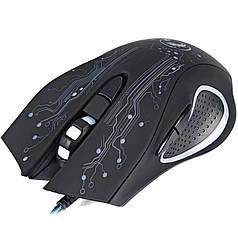 Игровая мышь ESTONE X9 USB Черная с подсветкой динамической компьютерная оптическая лазерная пк pc клавиатура
