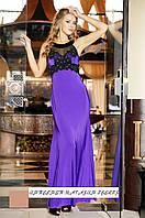 Вечернее платье Каллона ФИОЛЕТОВОЕ (без шлейфа)
