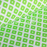 Отрез польской бязи Ромбики зеленые 63х145 см