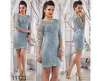 Вечернее платье мини с вышивкой и блестками
