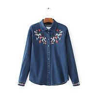 Рубашка женская NNT 876 Джинсовые рубашки с вышивкой