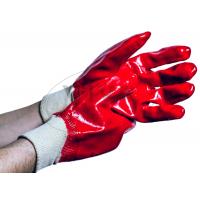 """Защитные рукавицы ПВХ с резиновым покрытием """"Красная БМС"""""""