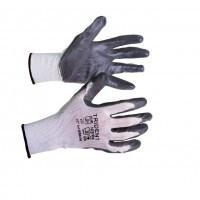 Перчатки неполный облив нитрилом, основа нейлон .