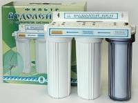 Фильтр для очистки воды под мойку Водолей БКП Арго 3-х ступенчатый, цеолит, шунгит, уголь, доставка по Украине