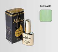 Гель-лак для ногтей «Milena» 03 Арго (бескислотный, гипоаллергенный, высоко пигментированный состав, не течет)