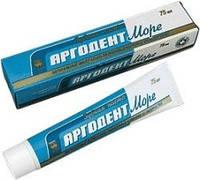 Зубная паста Аргодент море Арго содержит ионы фтора, кальция, фосфора, комплекс водорослей, пародонтоз, кариес, фото 1