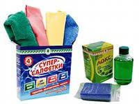Супер Салфетки Арго набор микрофибровое волокно для пыли, мебели, стекла, кухни, экранов, телевизора, телефона