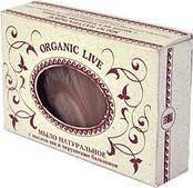 Натуральное мыло «Organic Live», с маслом ши и перуанским бальзамом Арго очищает, увлажняет, прыщи, ожоги