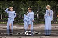 """Женское платье """"Шлейф"""", фото 1"""