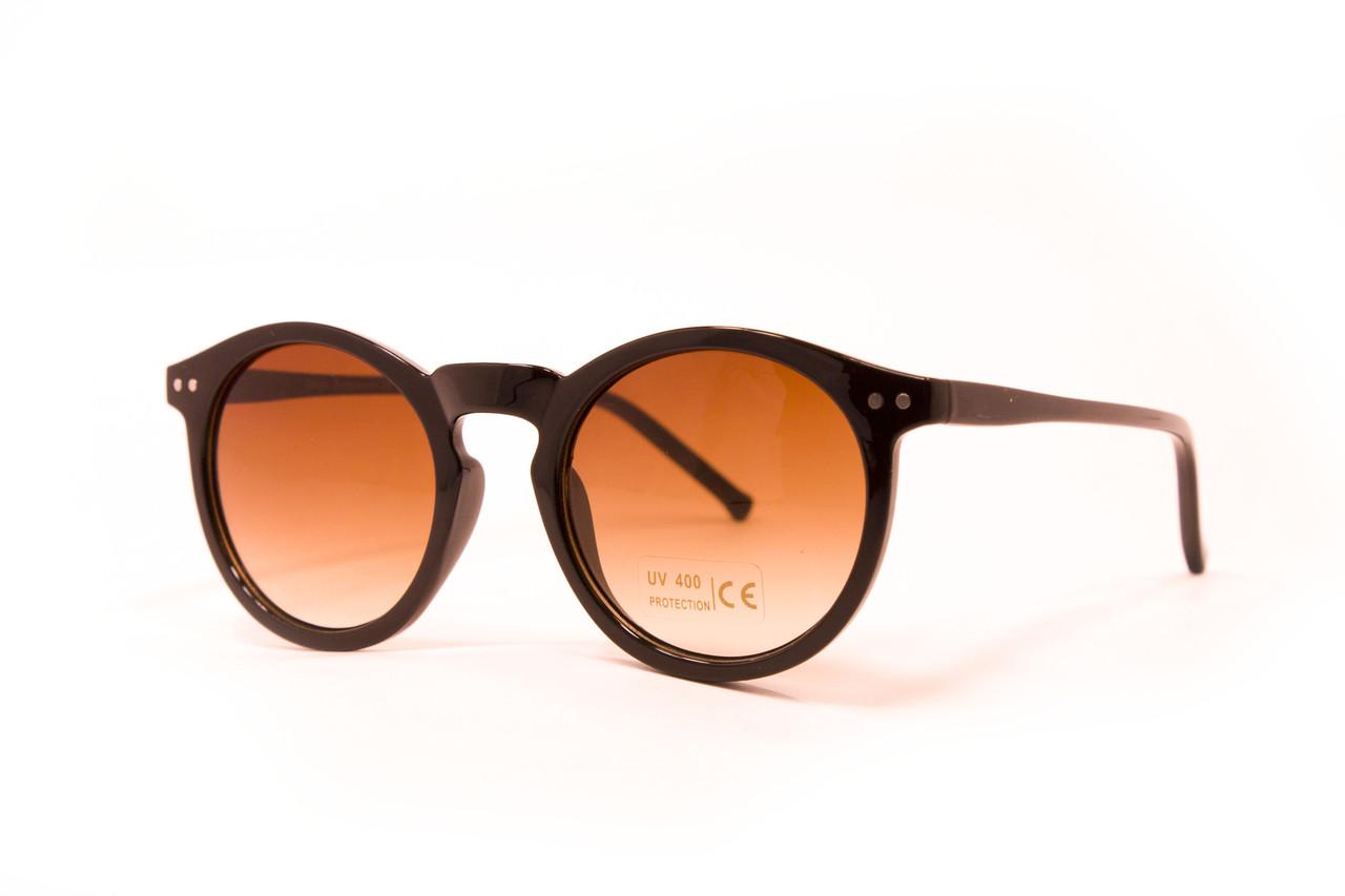 Круглые очки дерево (9015-4)