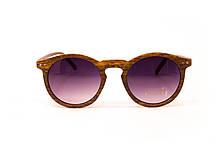 Круглые очки дерево (F9015-3), фото 2