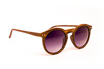 Круглые очки дерево (F9015-3), фото 3