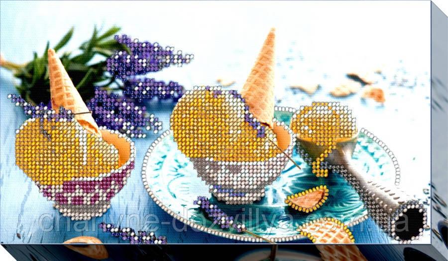 """Набор для вышивки бисером на хлопковом холсте натюрморт """"Мороженое-2"""""""
