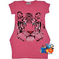 """Детская туника с коротким рукавом """"Tiger"""" , трикотаж , для девочек от 8-12 лет (4 ед. в уп.)"""