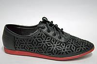 Туфли черные на красной подошве