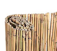Декоративный забор из натуральных бамбуковых стволов