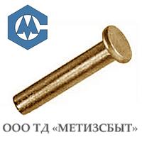 Заклепка латунная ГОСТ 10303-80; DIN 7338; от Ø3-Ø12