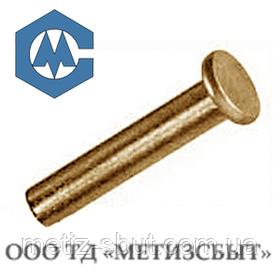 Заклепка латунна ГОСТ 10303-80; DIN 7338; від Ø3-Ø12 (від 5 кг)