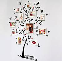 "Интерьерная наклейка на стену ""Дерево с фото"" (AY6031)"