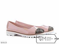 Туфли на низкой платформе  с каблуком