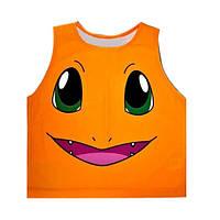 Женский топ для фитнеса со смайликом 0109, оранжевый