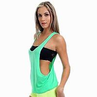 Женская майка для фитнеса и бодибилдинга TWO, бледно-зелёный
