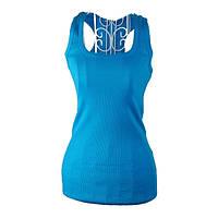Женская майка для фитнеса 0080, голубой