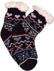Носки тапочки детские EMI ROSS Сердечко Черный
