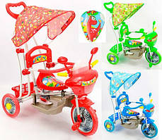 Триколісний велосипед з батьківською ручкою GM 01 ЧЕРВОНИЙ