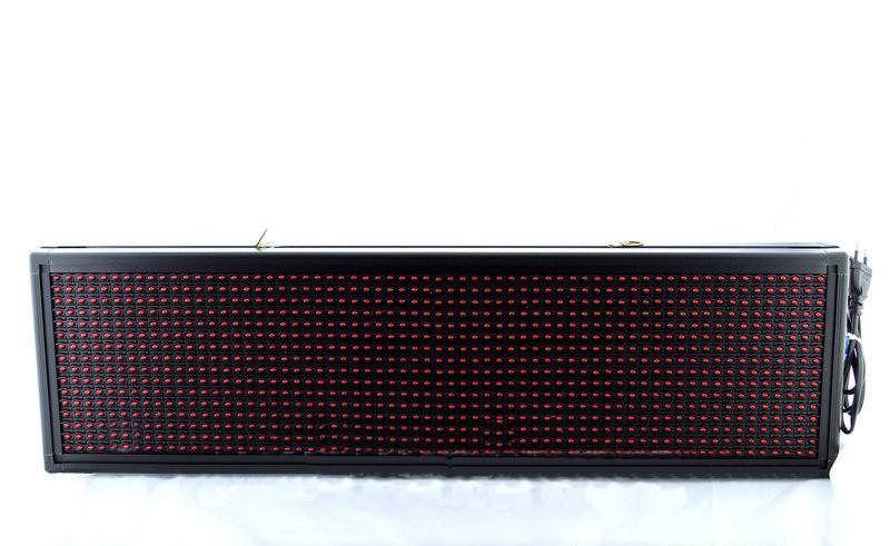 Светодиодная Бегущая строка LED-модулем многофункциональна 135*23 R Flash накопитель