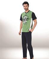 Мужская пижама Donex 2776, костюм для дома и отдыха футболка и брюки