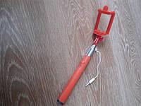 Монопод палка для селфи с кнопкой, шнур 6S красный, желтый, голубой, розовый