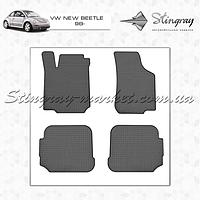 Комплект резиновых ковриков Stingray для автомобиля  Volkswagen New Beetle 1998-2010   4шт.