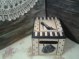 Короб для хранения с крышкой (декупаж) 130*165*100, МДФ