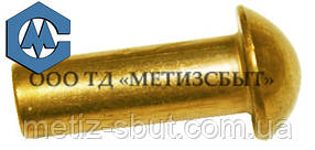 Заклепка  ГОСТ 10299-80; DIN 660;от Ø3-Ø12  Латунь