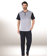 Мужская пижама Donex 2782, костюм для дома и отдыха футболка и брюки