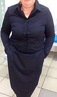 Черное прямое платье с карманами