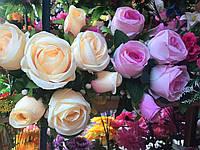 Искусственные цветы Букет из роз, разные цвета в упаковке