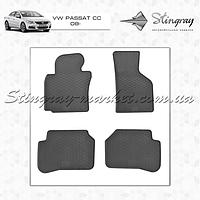 Комплект резиновых ковриков Stingray для автомобиля  Volkswagen Passat CC 2008-    4шт.