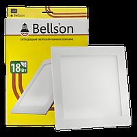 Светодиодный встраиваемый LED светильник Bellson 18W «Квадрат»