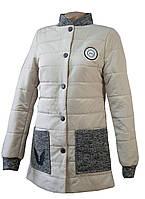 Куртка женская удлинённая LEKA весна 2017