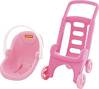 Аксессуары для кукол «Полесье» (44525) коляска для куклы Pink Line 2х1