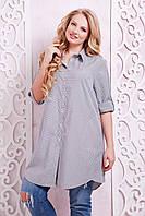 Платье-рубашка в клетку ЛОРЕНС серое(54-60)