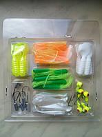 Набор силиконовых приманок для рыбы (45 шт.)