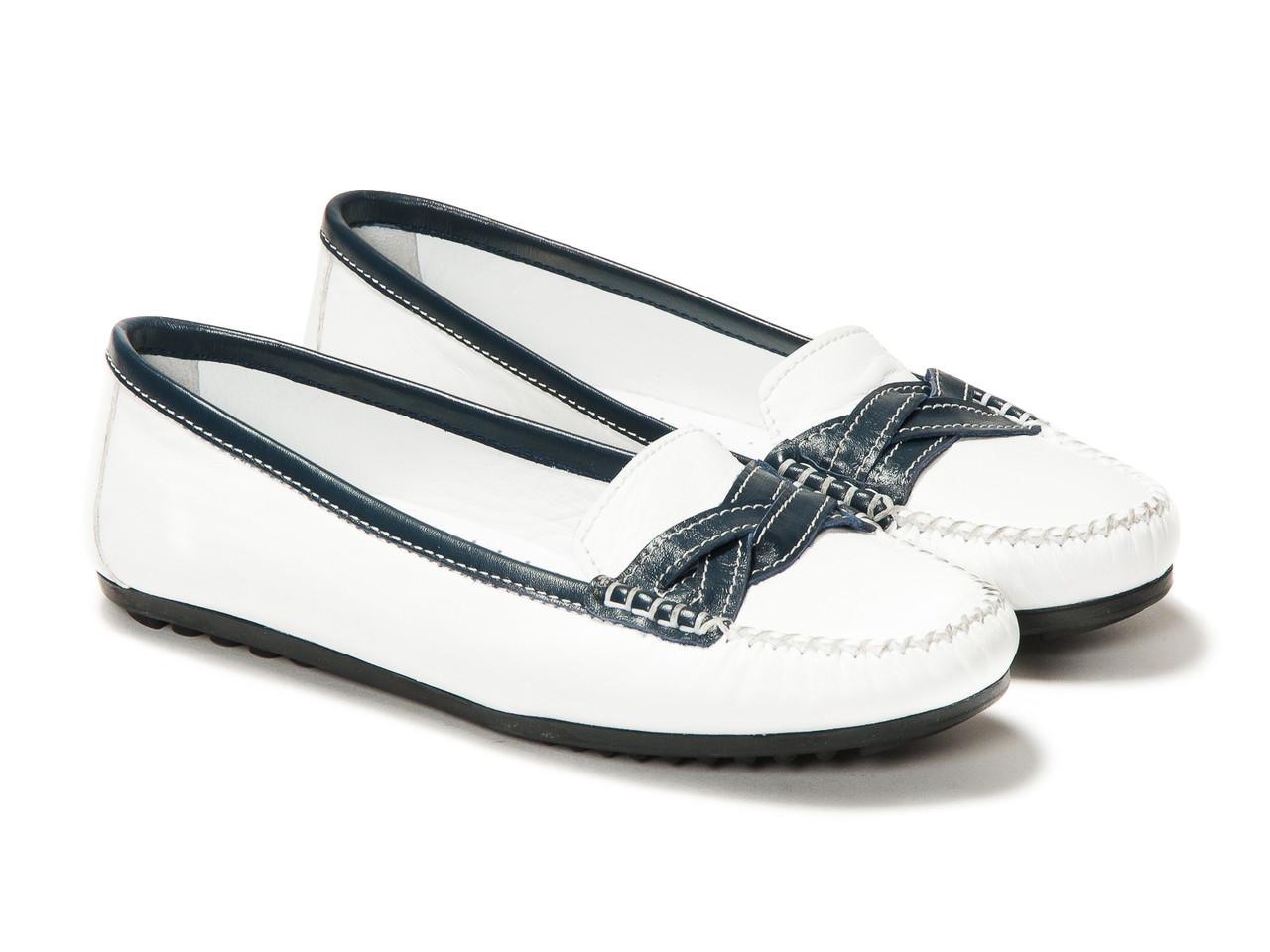 Мокасины Etor 3738-765-1 36 белые